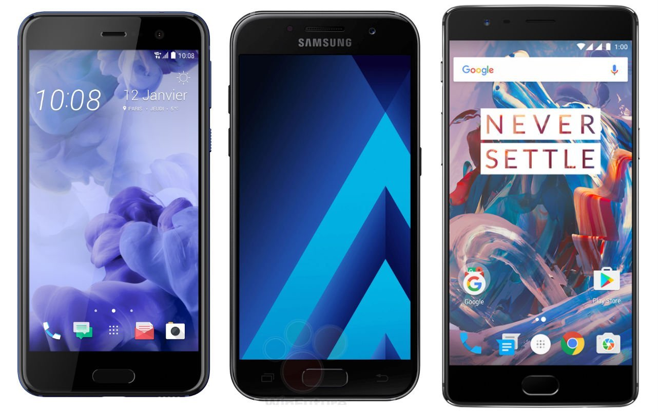 HTC U Play : est-il à la hauteur des Samsung Galaxy A5 2017 et OnePlus 3T ?