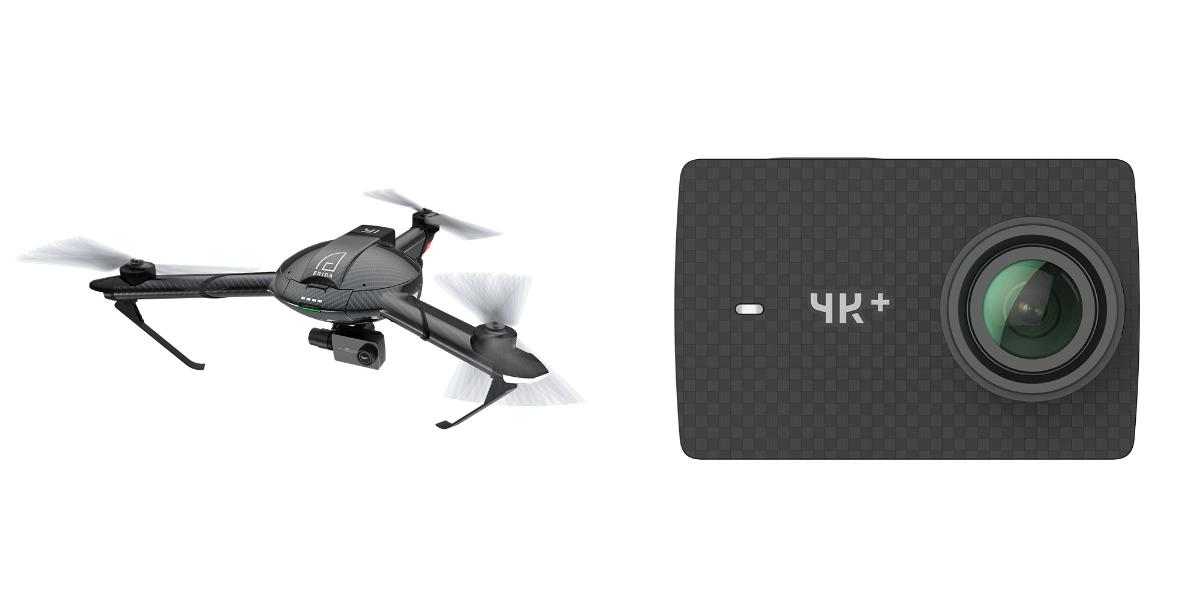 CES 2017 : Prise en main vidéo du drone Yi Erida et de l'action cam Yi 4K+