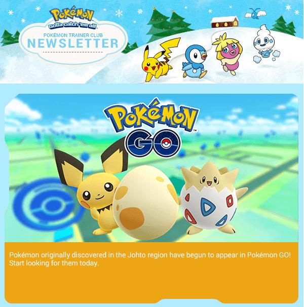 Pokémon Go : serait-il possible de capturer les Pokémon de deuxième génération ?
