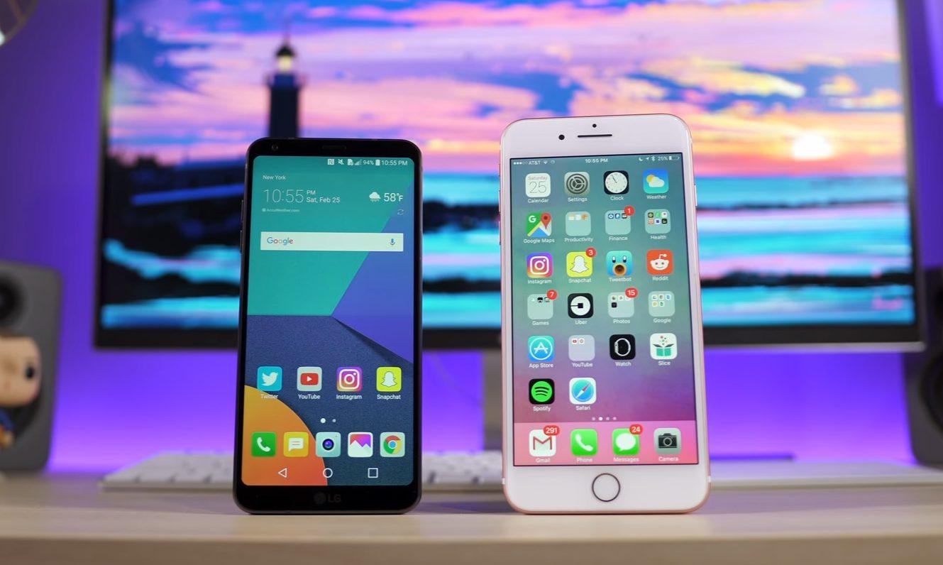 « L'écran du LG G6 met une claque à l'iPhone 7 »
