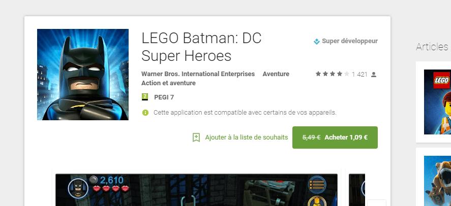 Le Play Store affiche (enfin) les réductions de prix des apps et des jeux