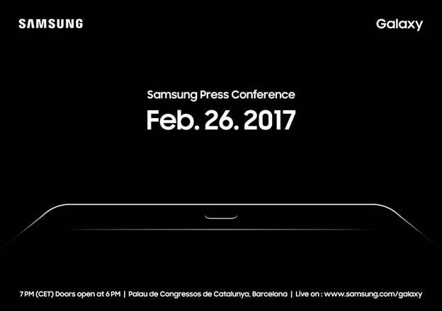 MWC 2017 : Samsung annonce une conférence pour présenter la Galaxy Tab S3