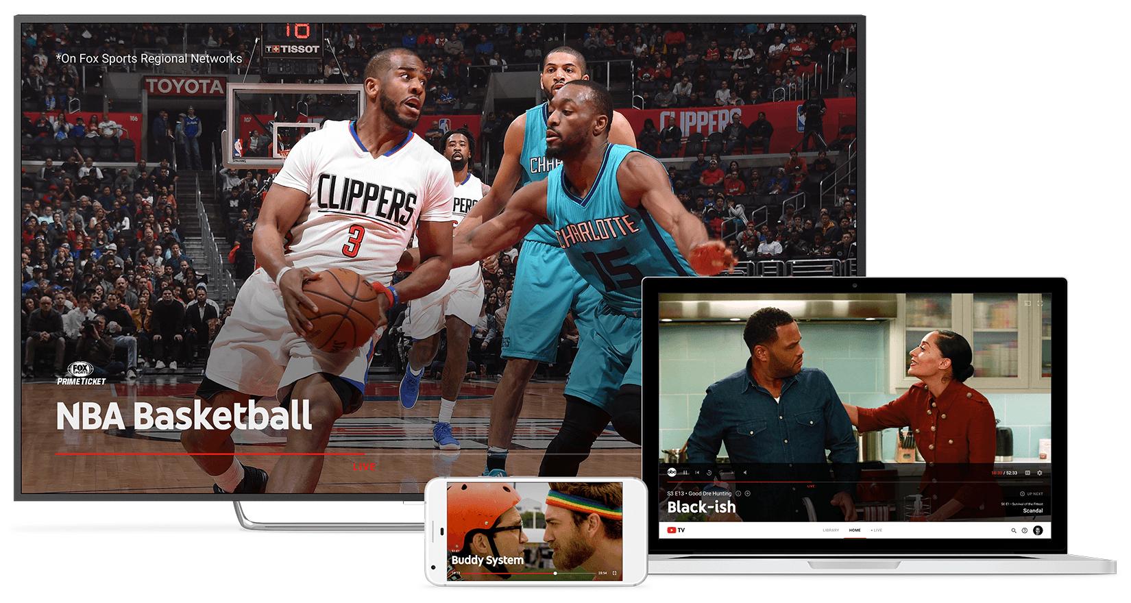 YouTube TV : Google se met à la TV payante sur internet