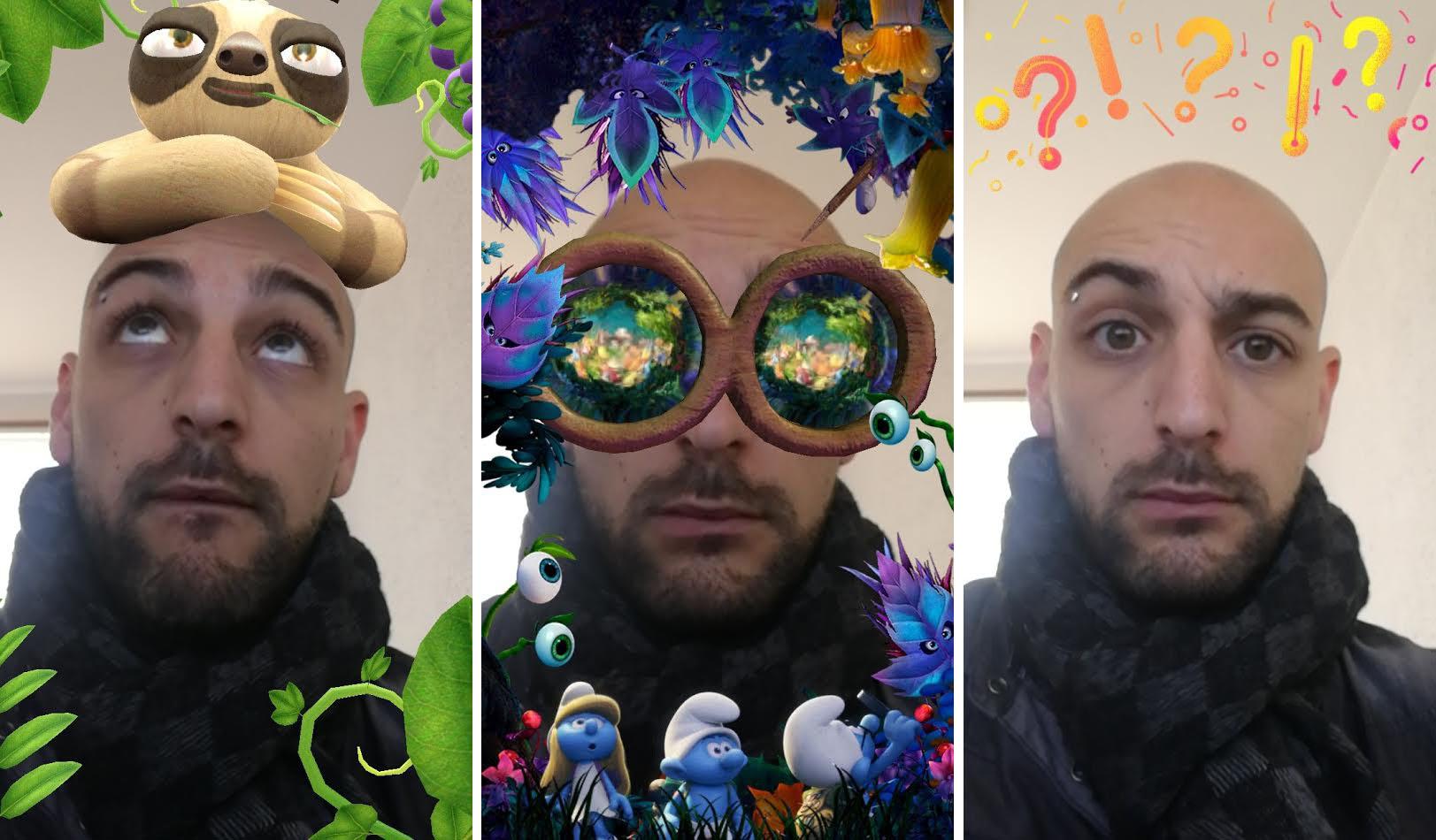 Facebook lance de véritables filtres Snapchat au sein de son appli mobile