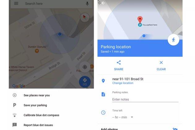 La beta de Google Maps permet à nouveau de retrouver sa place de parking