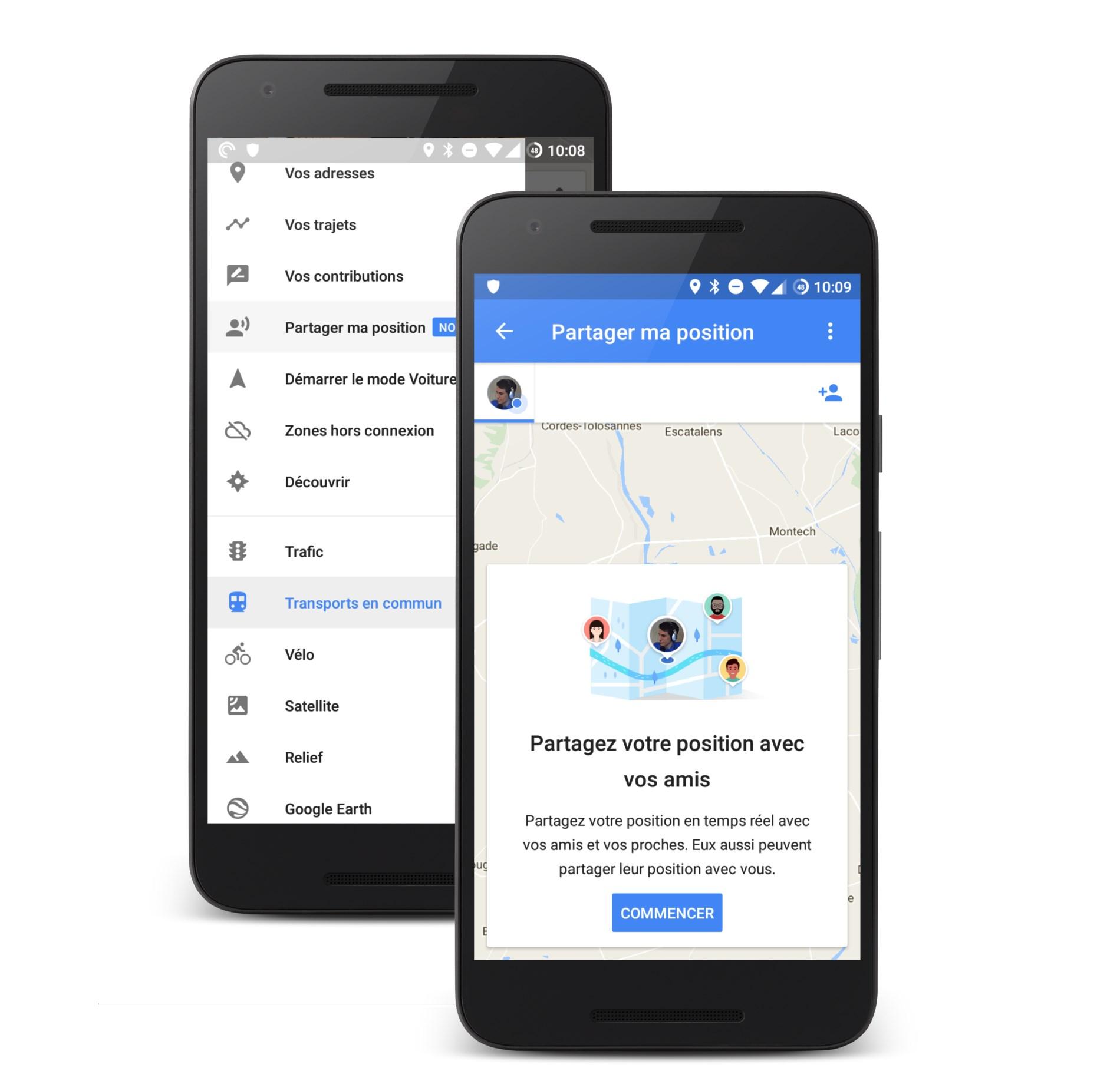 Google Maps permet de facilement partager sa position à ses amis