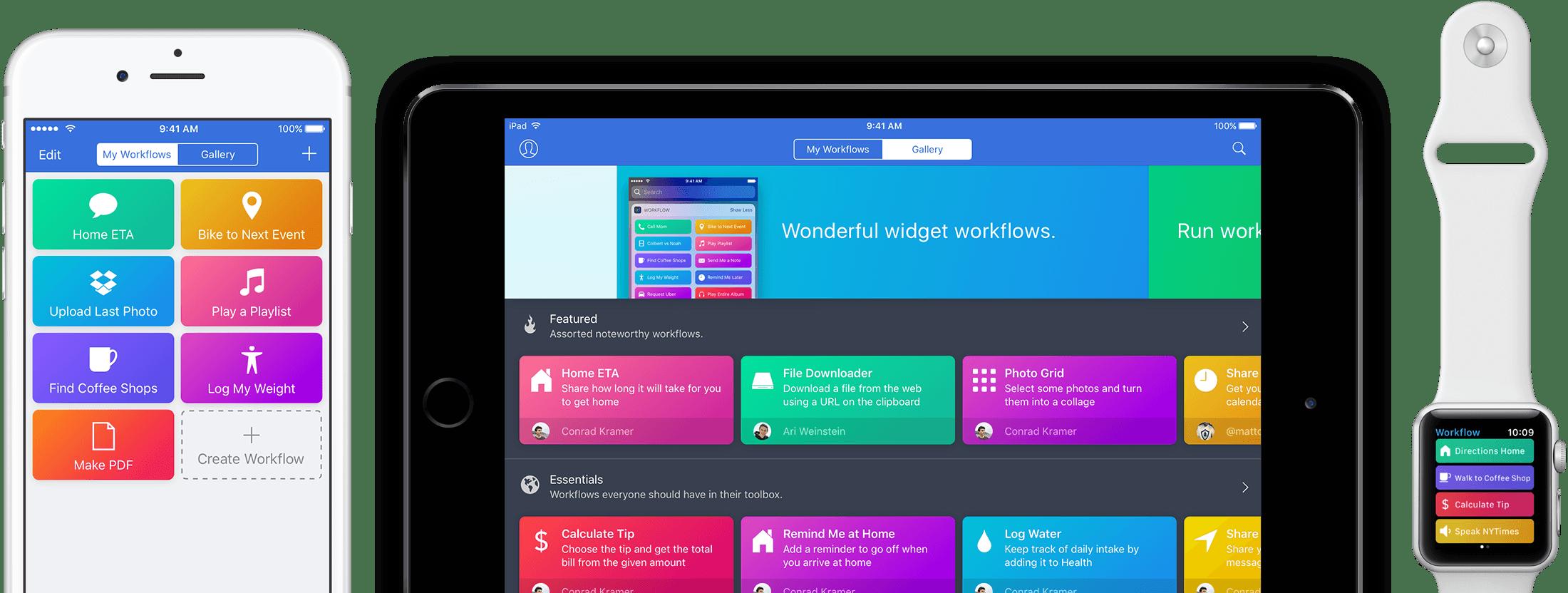 Apple rachète Workflow : ce que c'est, les alternatives sur Android
