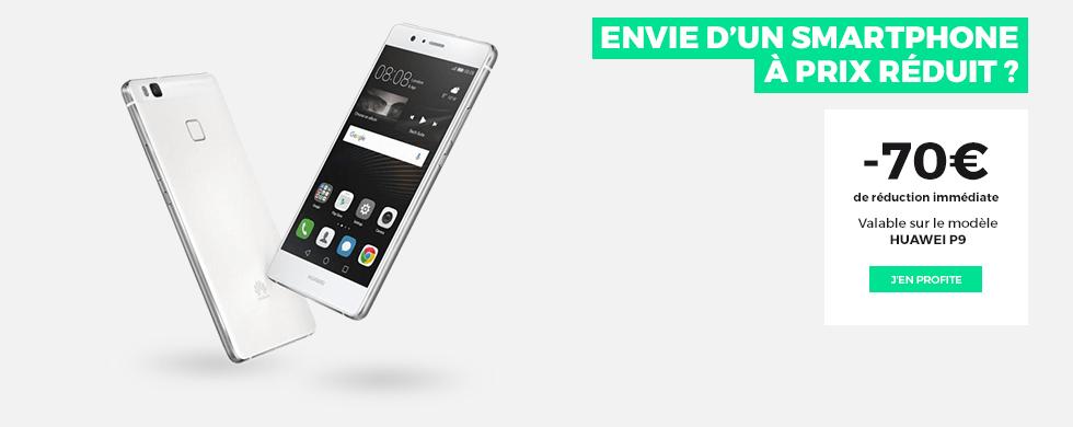 SFR RED : 20 Go à 10 euros par mois et 70 euros de réduction sur le Huawei P9 !