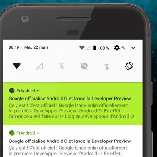 Quelles nouveautés pour les notifications sur Android O ?