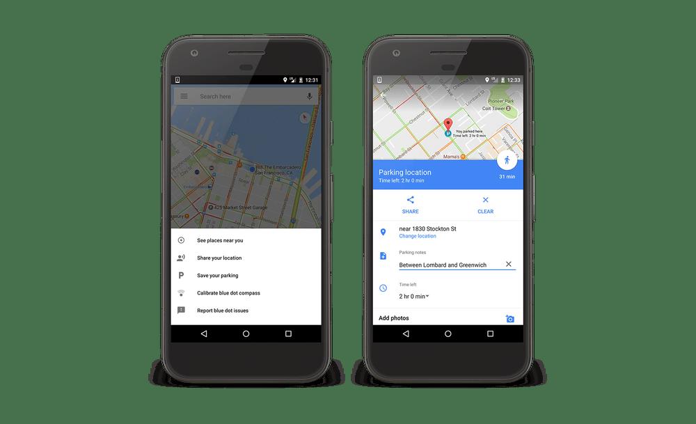 Google Maps lance officiellement la mémorisation de place de parking