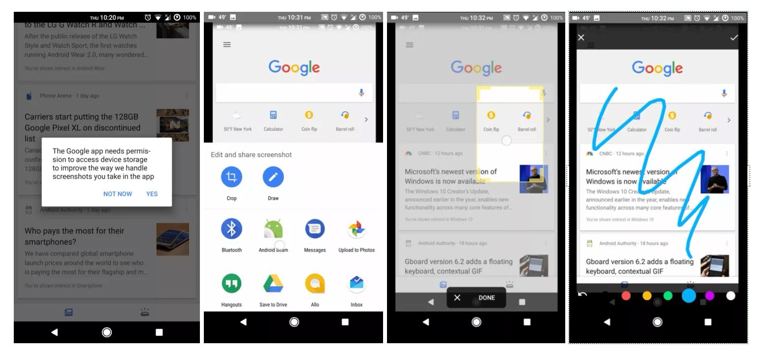 Google teste un nouvel outil de capture d'écran