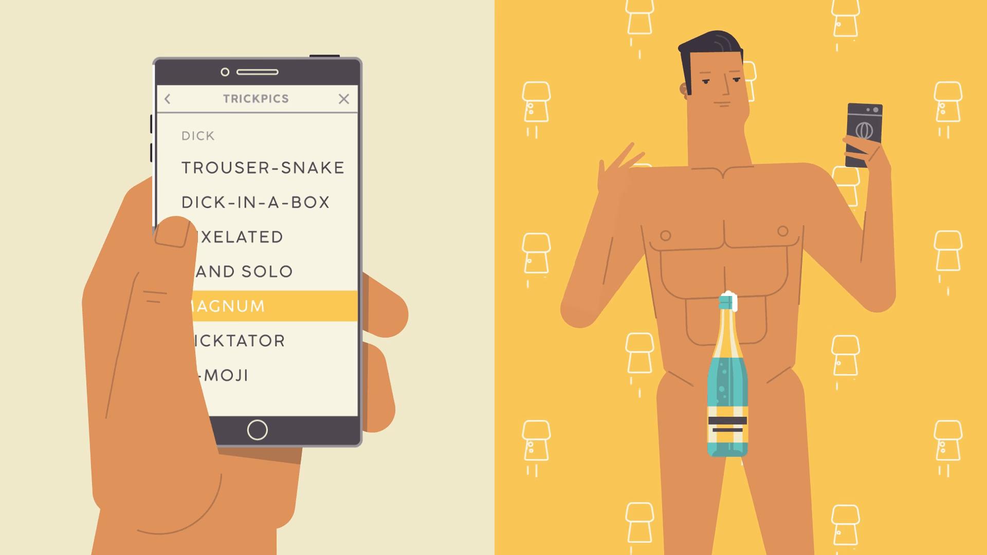 Pornhub lance Trickpics pour couvrir vos parties intimes avec un filtre à la Snapchat