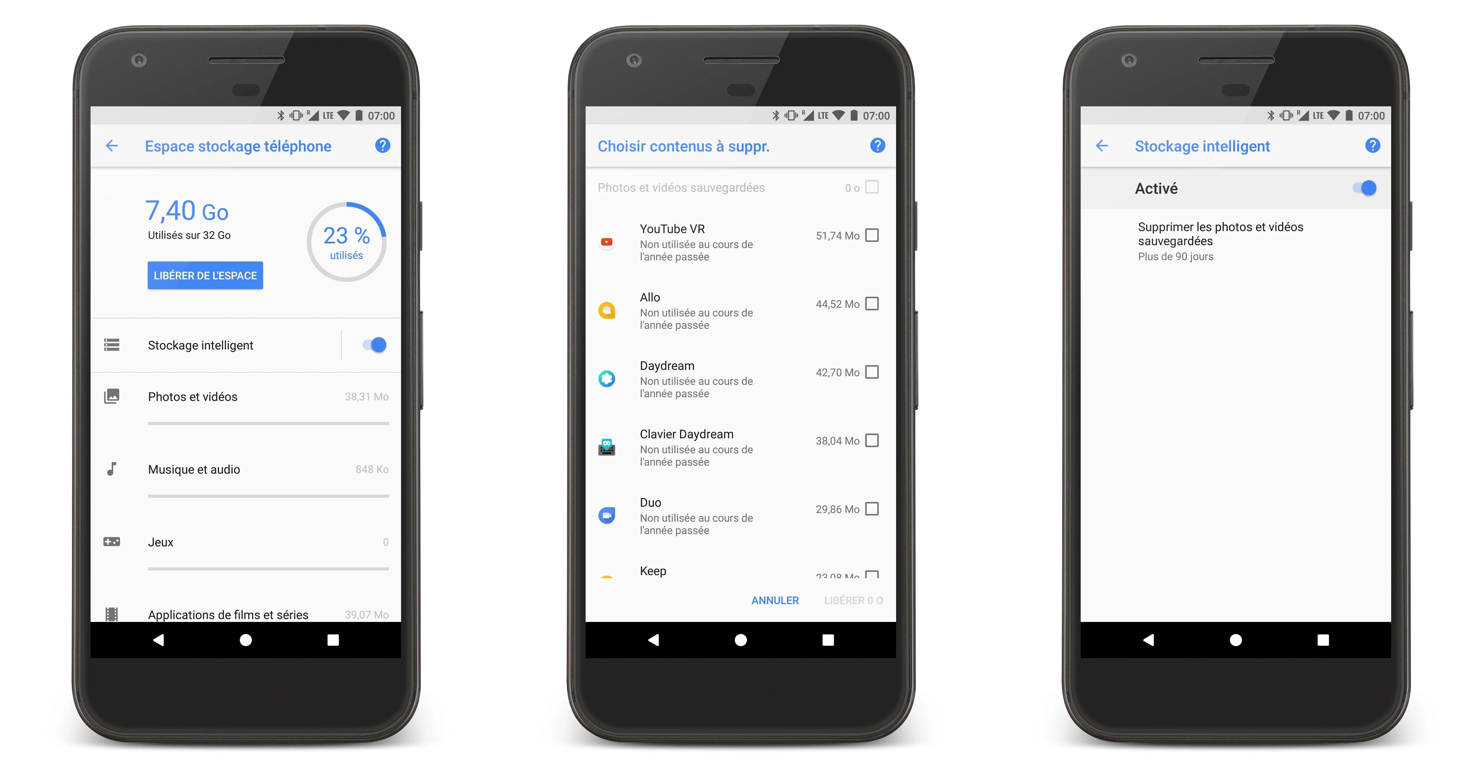 L'écran de gestion du stockage d'Android O évolue à nouveau