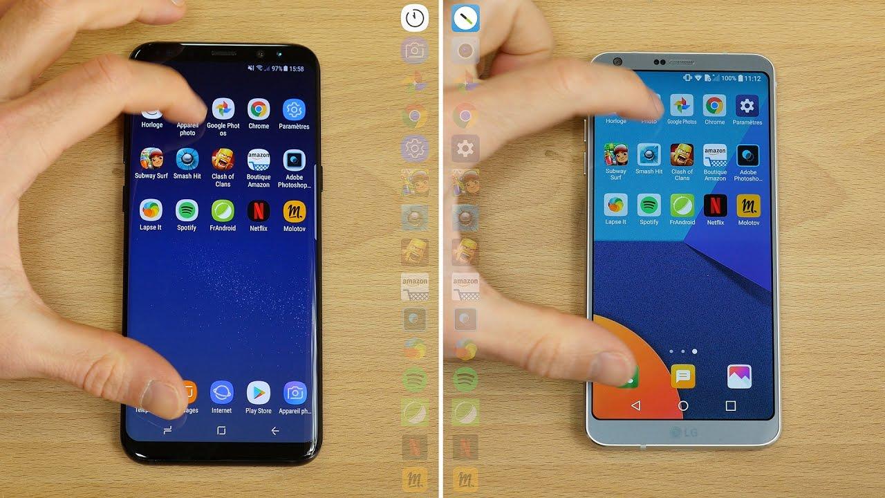 Speedtest : la confrontation entre le Samsung Galaxy S8 et le LG G6 en vidéo