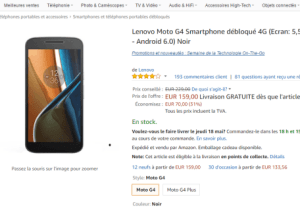 🔥 Bon plan : le Lenovo Moto G4 à 159 euros sur Amazon