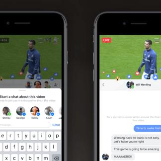 Facebook Live teste les chats privés pour ne plus avoir affaire à la foule de commentateurs
