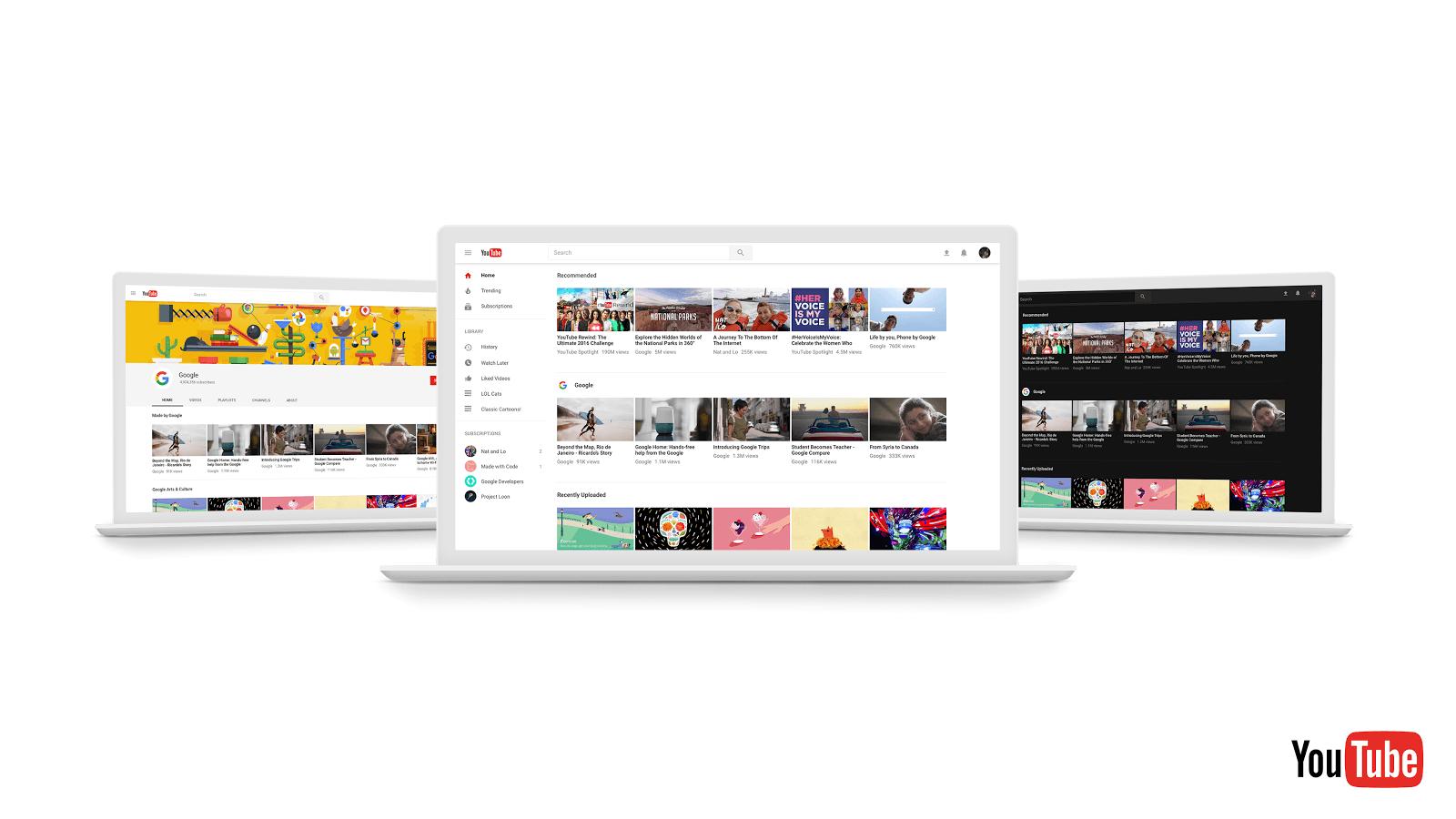 Comment activer le mode nuit du nouveau site YouTube ?