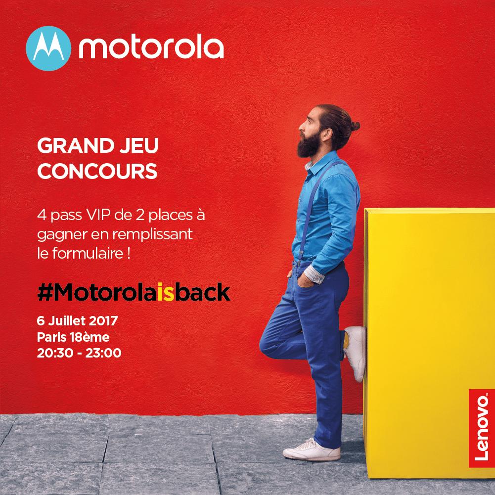 🔥 Concours : gagnez vos pass VIP pour la soirée de lancement du Moto Z2 Play !