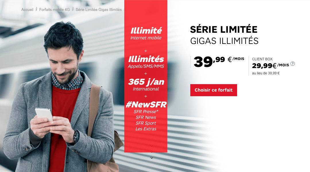 SFR répond à Free avec un forfait 4G illimité très généreux