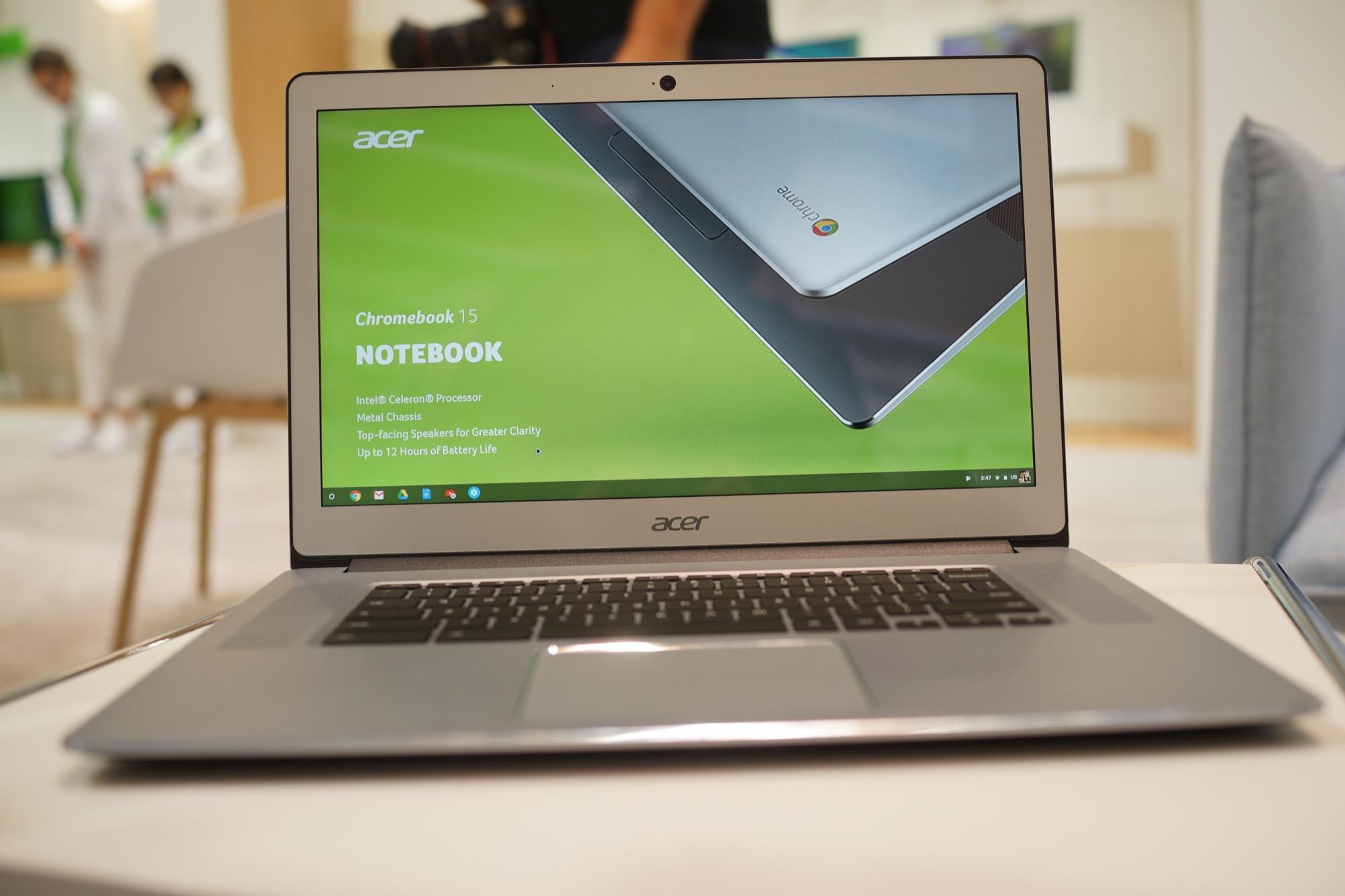 Découverte de l'Acer Chromebook 15 2017, enfin du nouveau côté Chrome OS