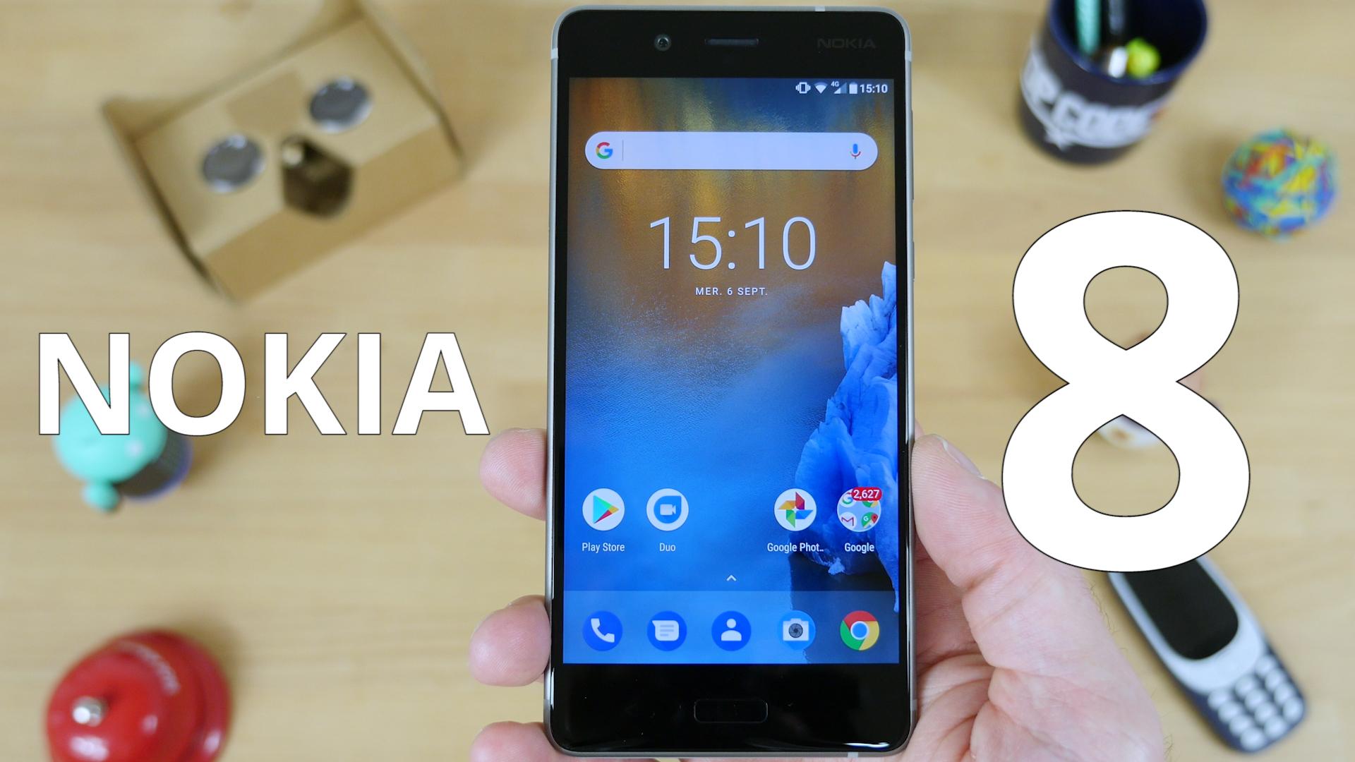 Test vidéo du Nokia 8, le premier flagship Android de la marque