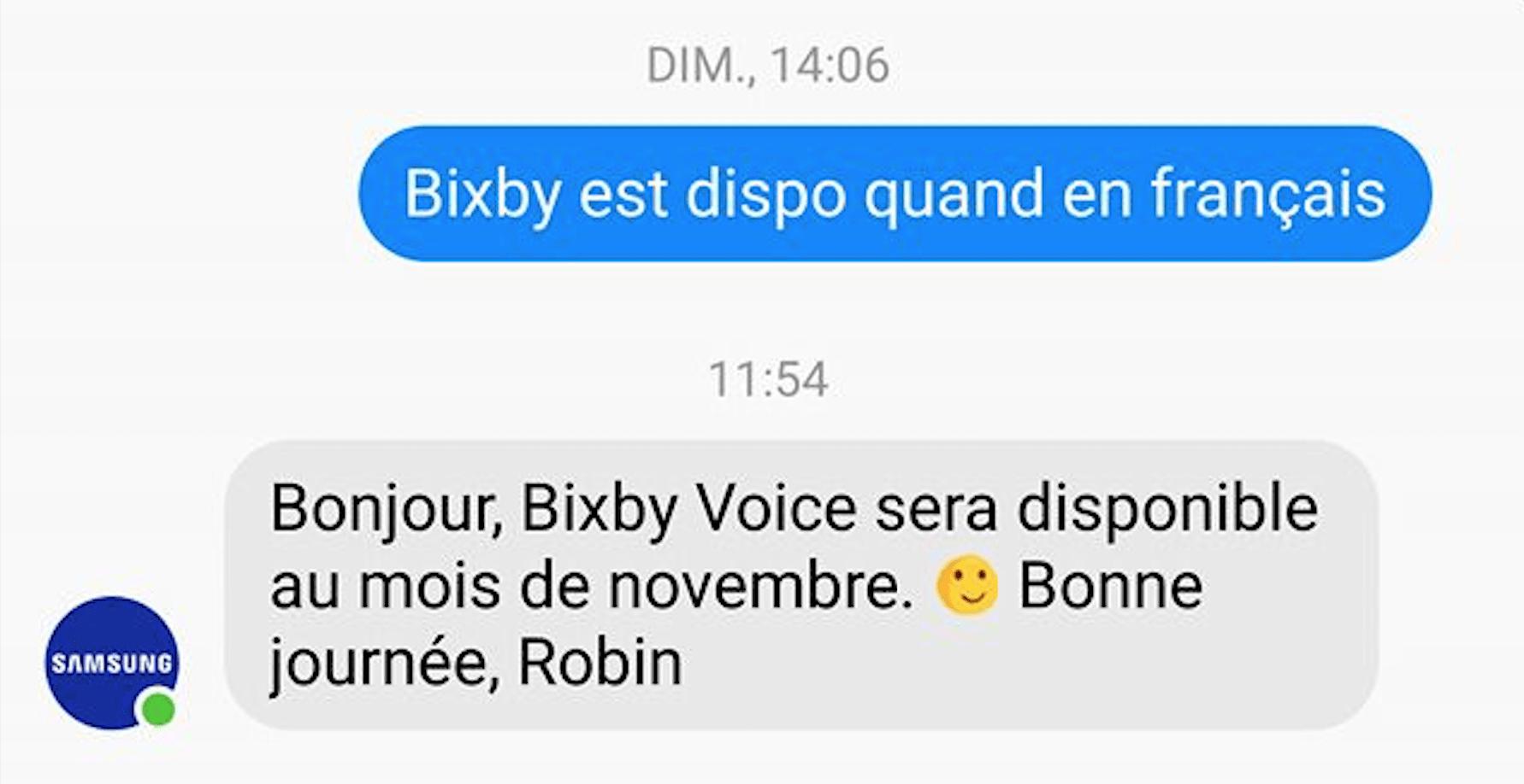 Finalement, Bixby Voice ne devrait pas être disponible en français en novembre