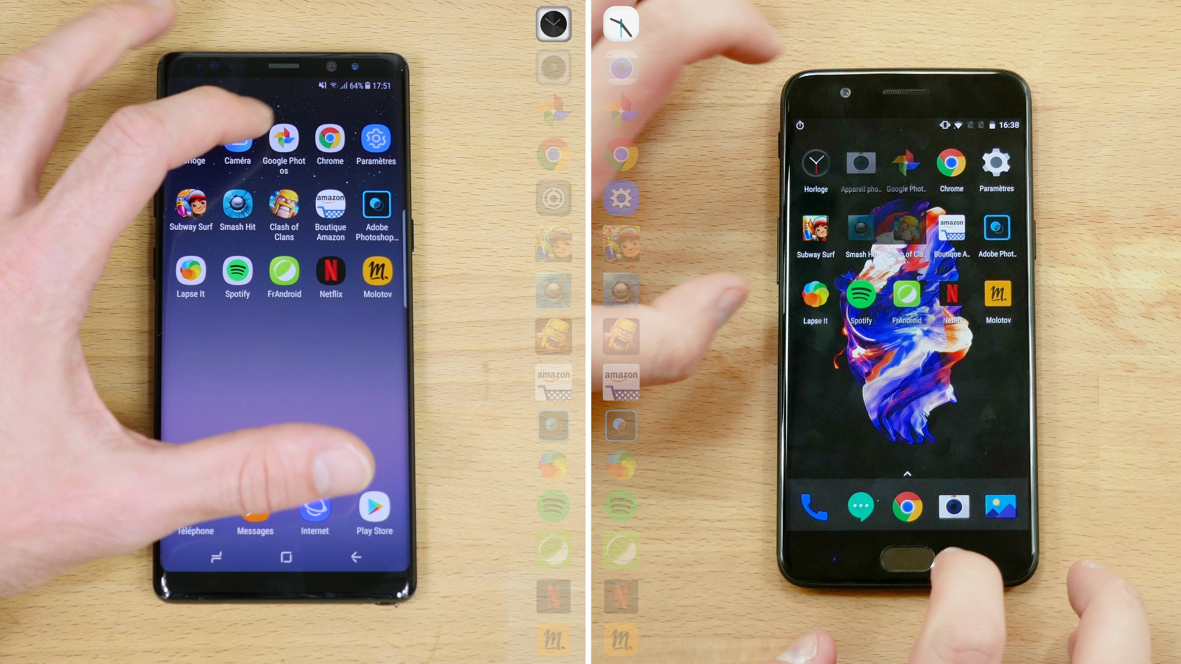 Speedtest Samsung Galaxy Note 8 vs OnePlus 5 : qui est le plus rapide ?