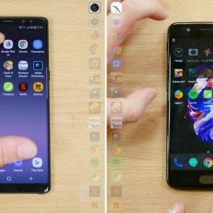 SpeedtestSamsung Galaxy Note 8 vs OnePlus 5:qui est le plus rapide?