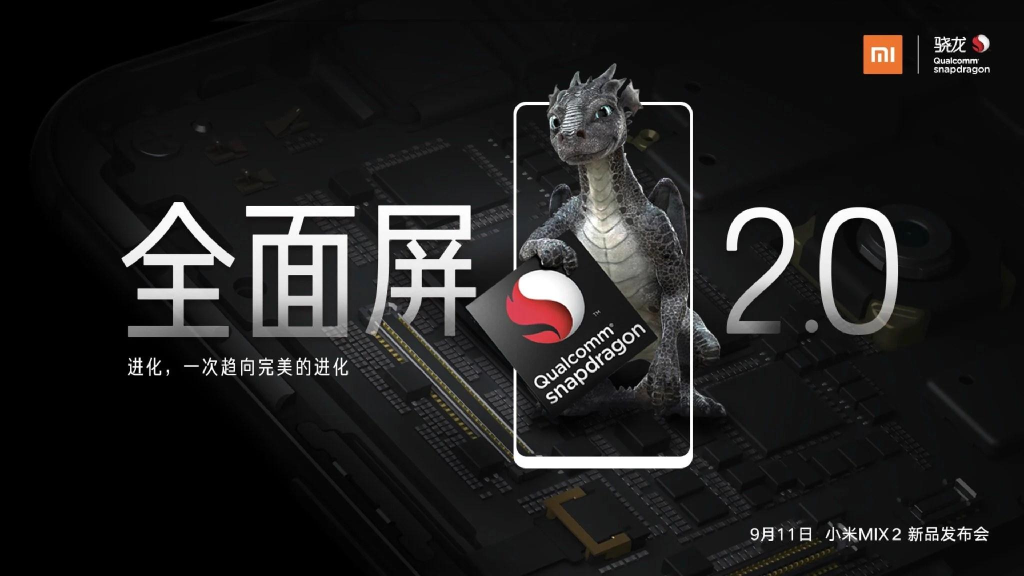 Xiaomi Mi Mix 2 :Qualcomm confirme le Snapdragon 835, pas de 836