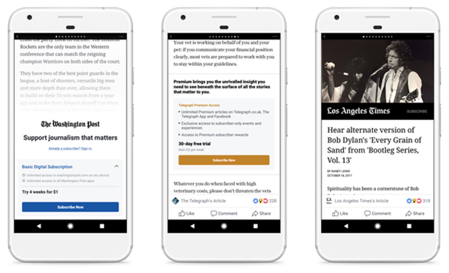 Facebook veut vous faire payer pour lire des articles sur son réseau social