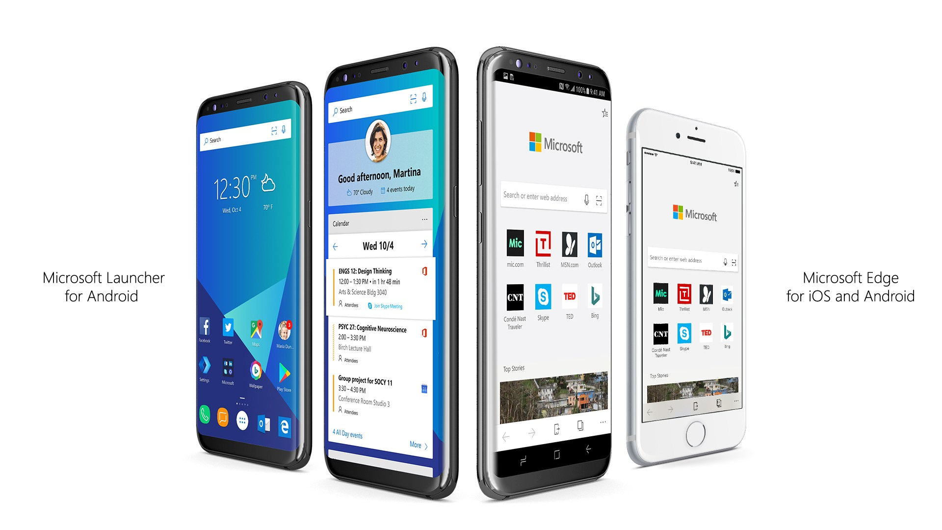 Fini Windows Mobile, Microsoft mise à fond sur Android et iOS avec son launcher et Edge