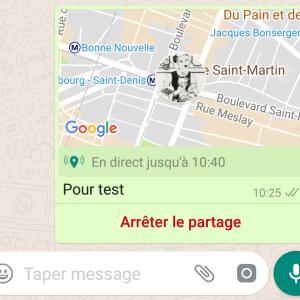 WhatsApp : partagez en direct votre localisation avec vos proches
