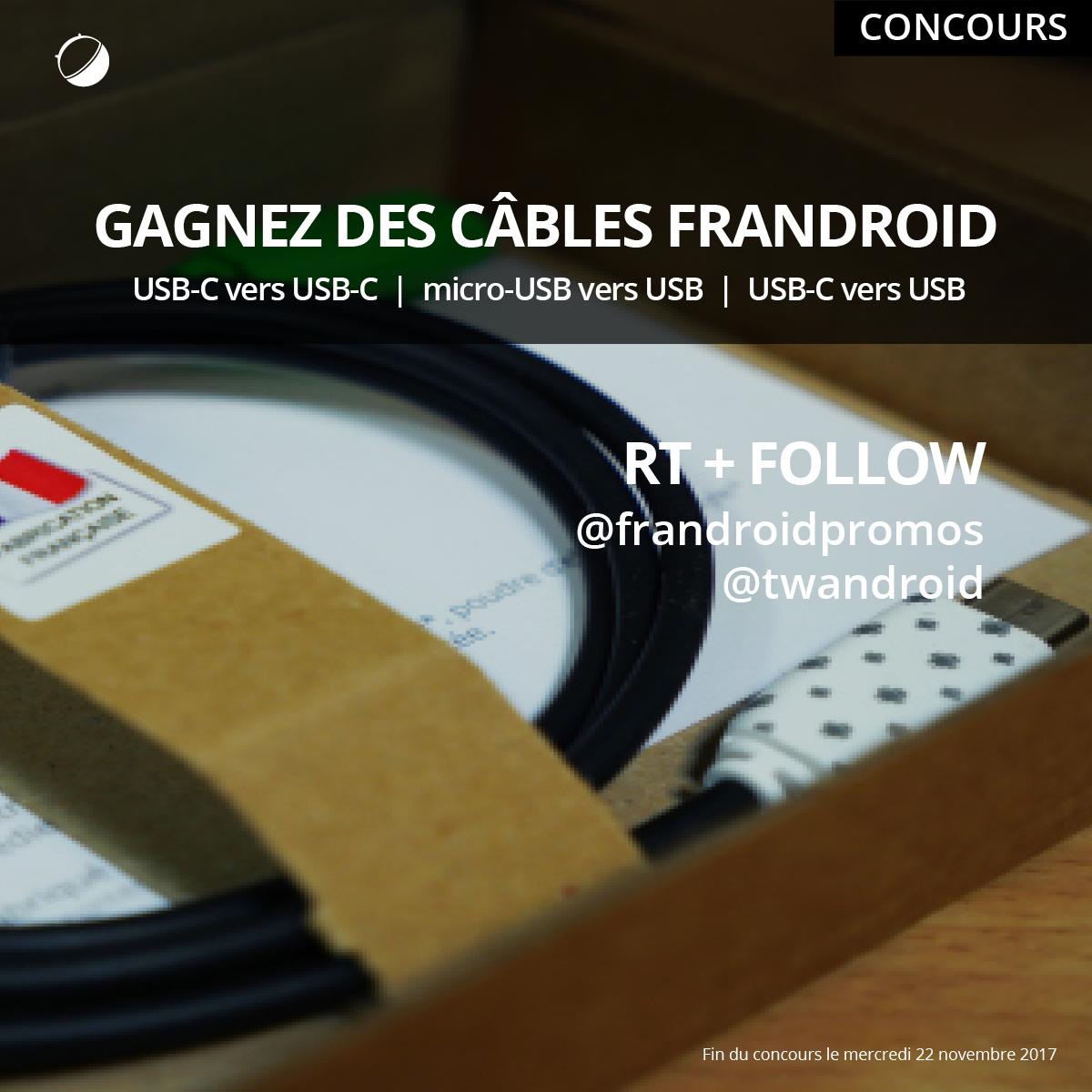 🔥 Concours : gagnez des câbles personnalisés FrAndroid !