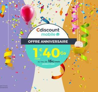 🔥 Cyber Monday : forfait Cdiscount 40 Go de 4G, appels et SMS illimités pour 1 euros par mois pendant 6 mois
