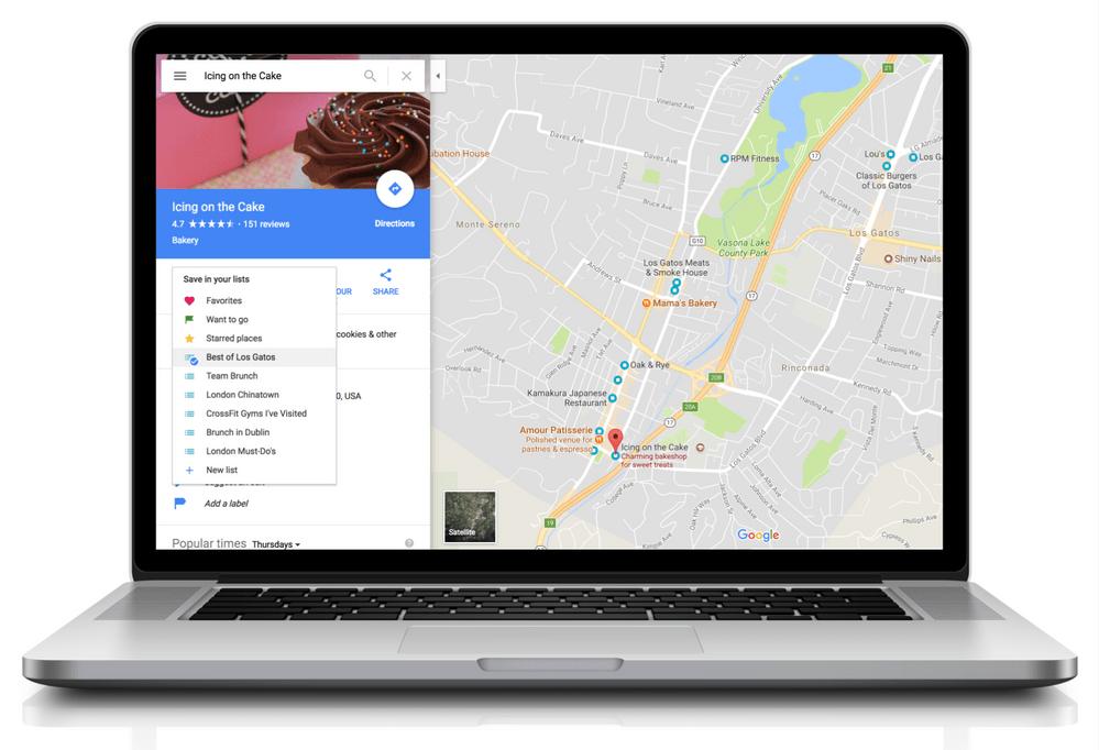 Google Maps : partagez vos bonnes adresses depuis le web