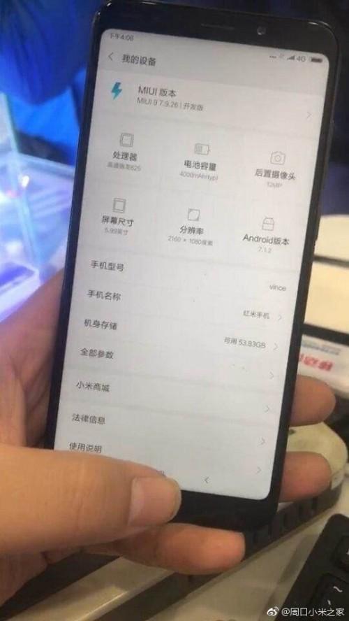 Xiaomi Redmi Note 5 : une première photo volée dévoile quelques caractéristiques