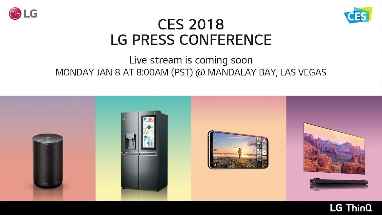 CES 2018 : comment suivre la conférence LG à 17 heures