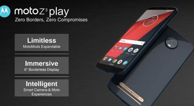 Motorola Moto Z3 Play : les caractéristiques révélées par la fuite de documents internes
