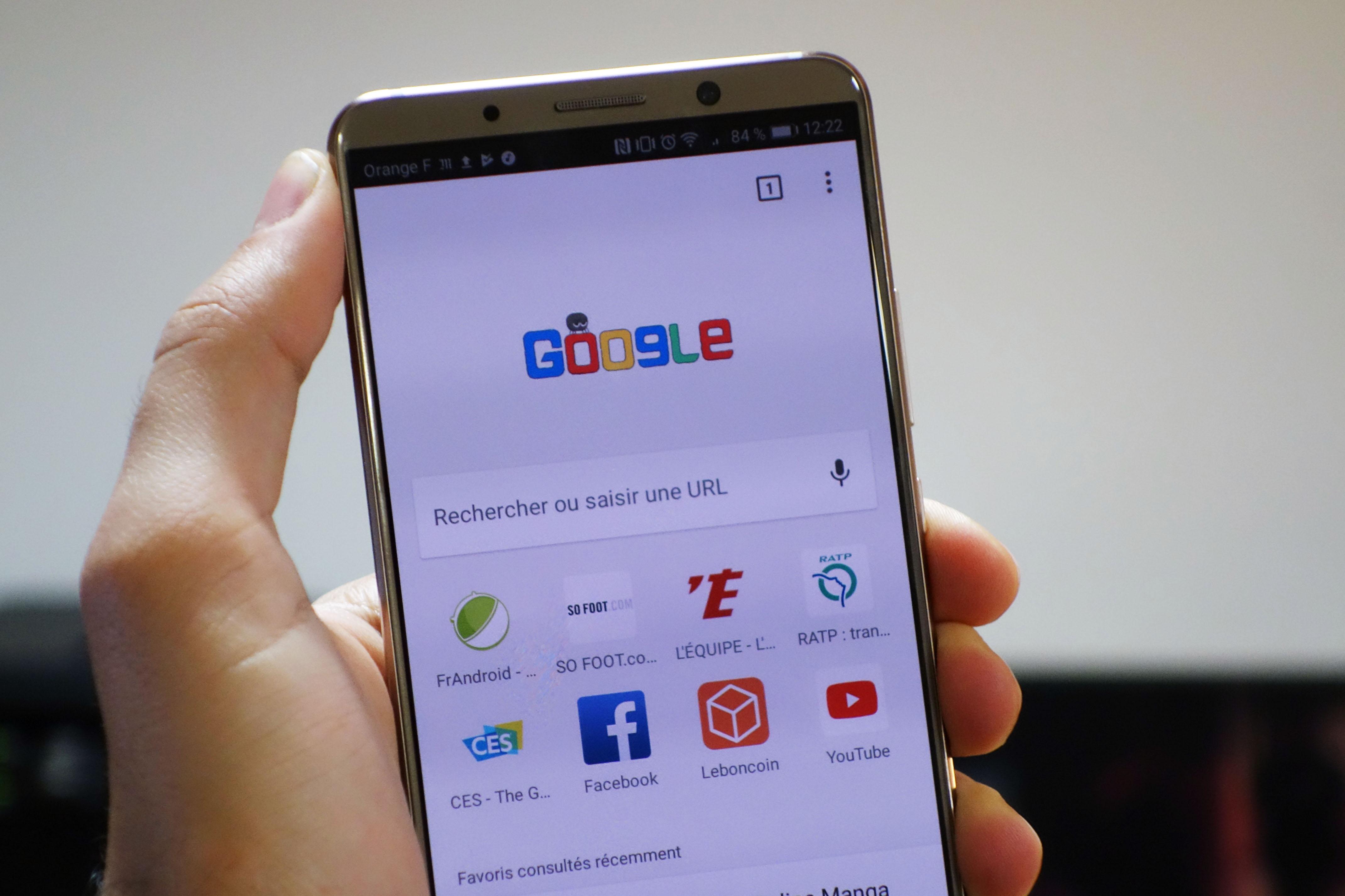 Le Material Design 2 s'affiche sur le compte Google
