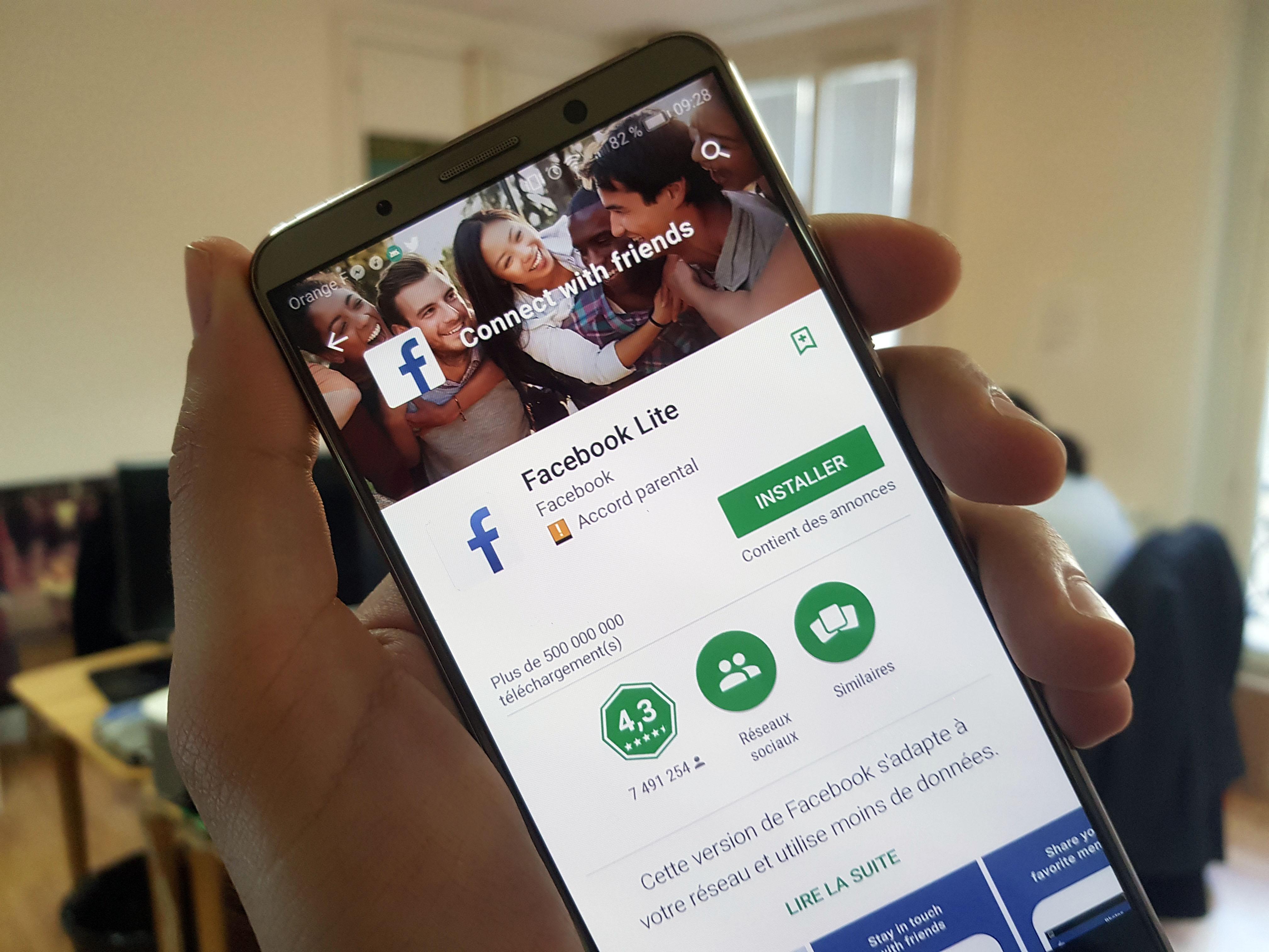 Facebook Lite: la France y a enfin droit