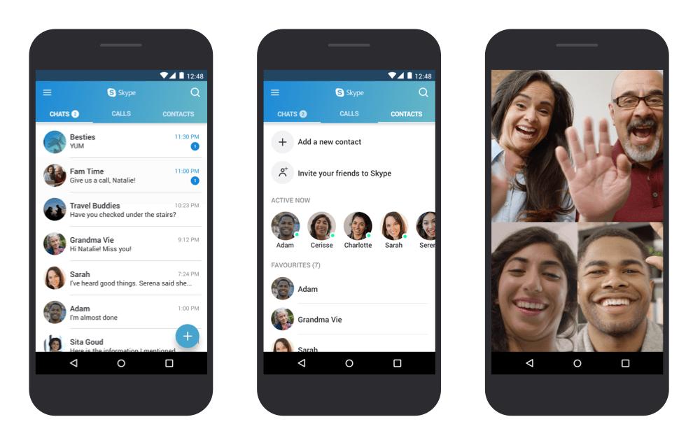 Skype allège son client pour les anciennes versions d'Android