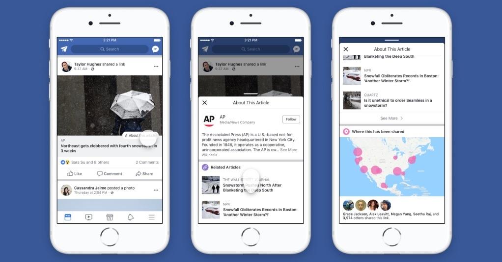 Facebook va pointer du doigt vos amis qui partagent de fausses informations