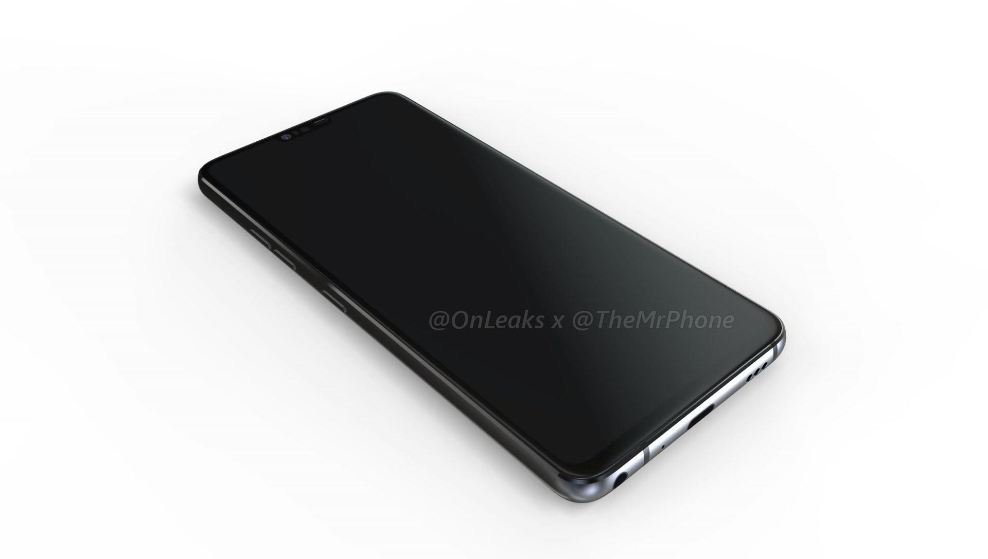 LG G7 : le design se dévoile en images de synthèse avec une encoche et un nouveau bouton