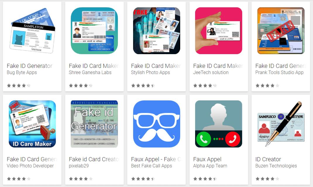 Vous ne pourrez bientôt plus créer de faux papiers sur le Google Play Store