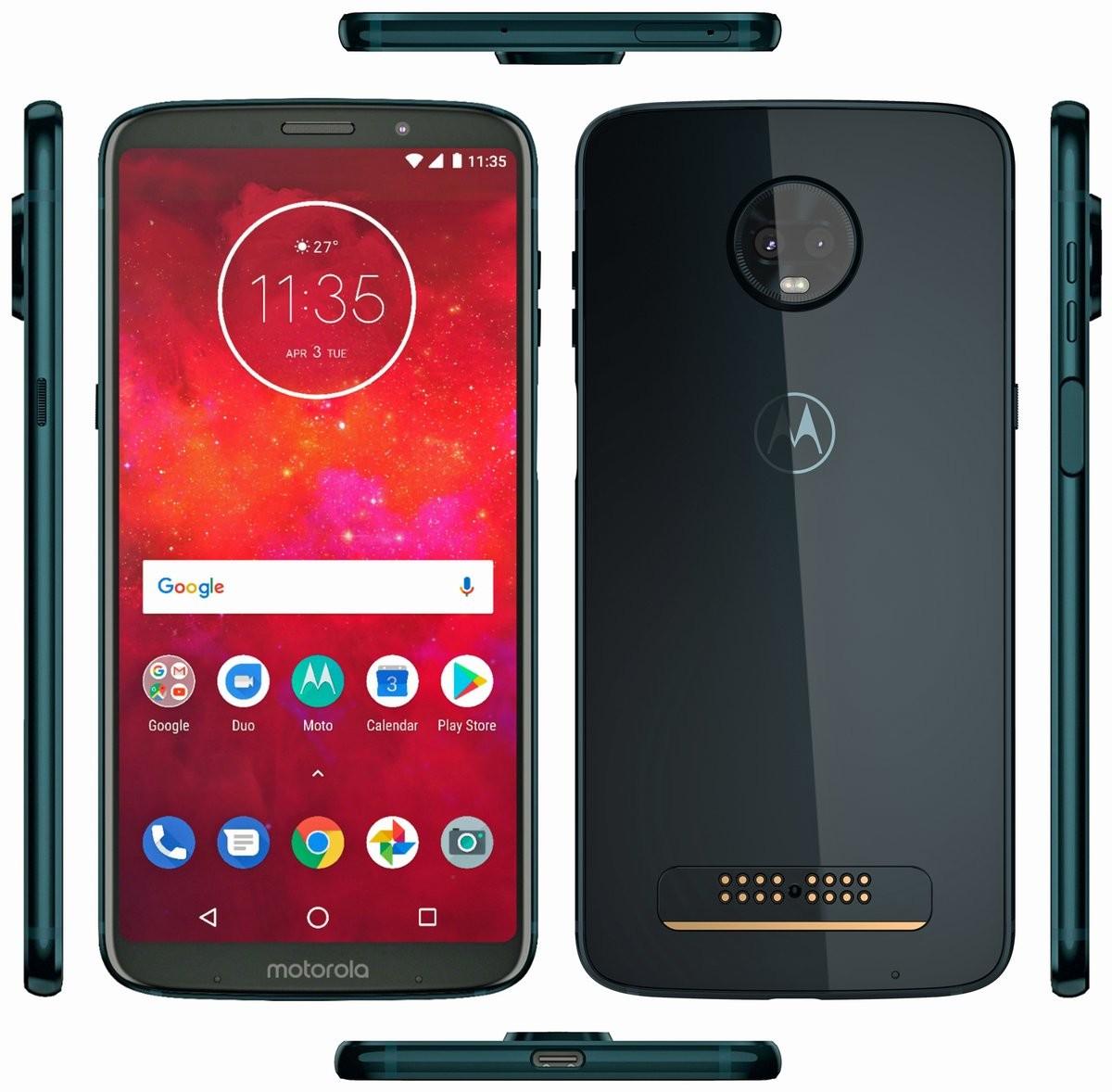 Le Motorola Moto Z3 Play se dévoile déjà sous tous ses angles