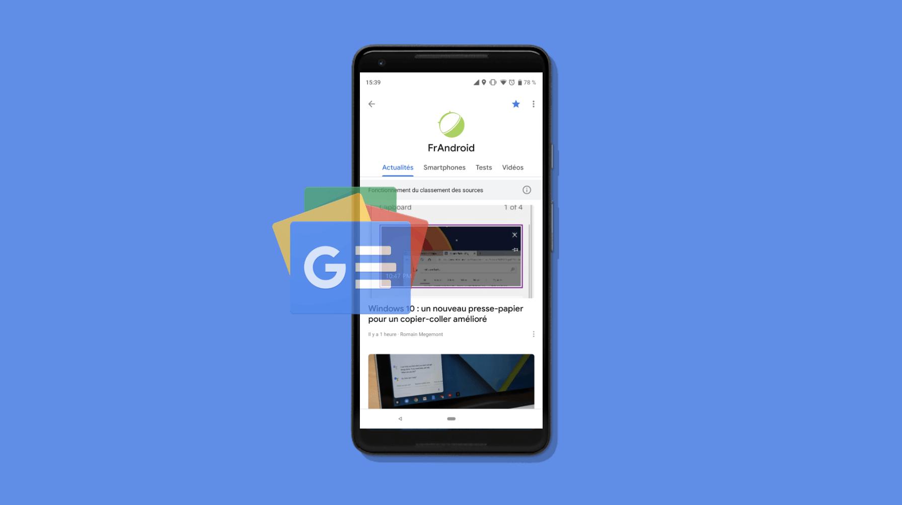 Abonnez-vous à FrAndroid et Numerama sur Google News – Actualités