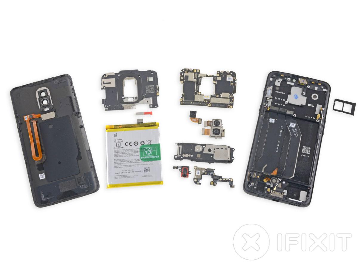 OnePlus 6 démonté par iFixit : plus résistant à l'eau et réparable qu'on ne pourrait le penser