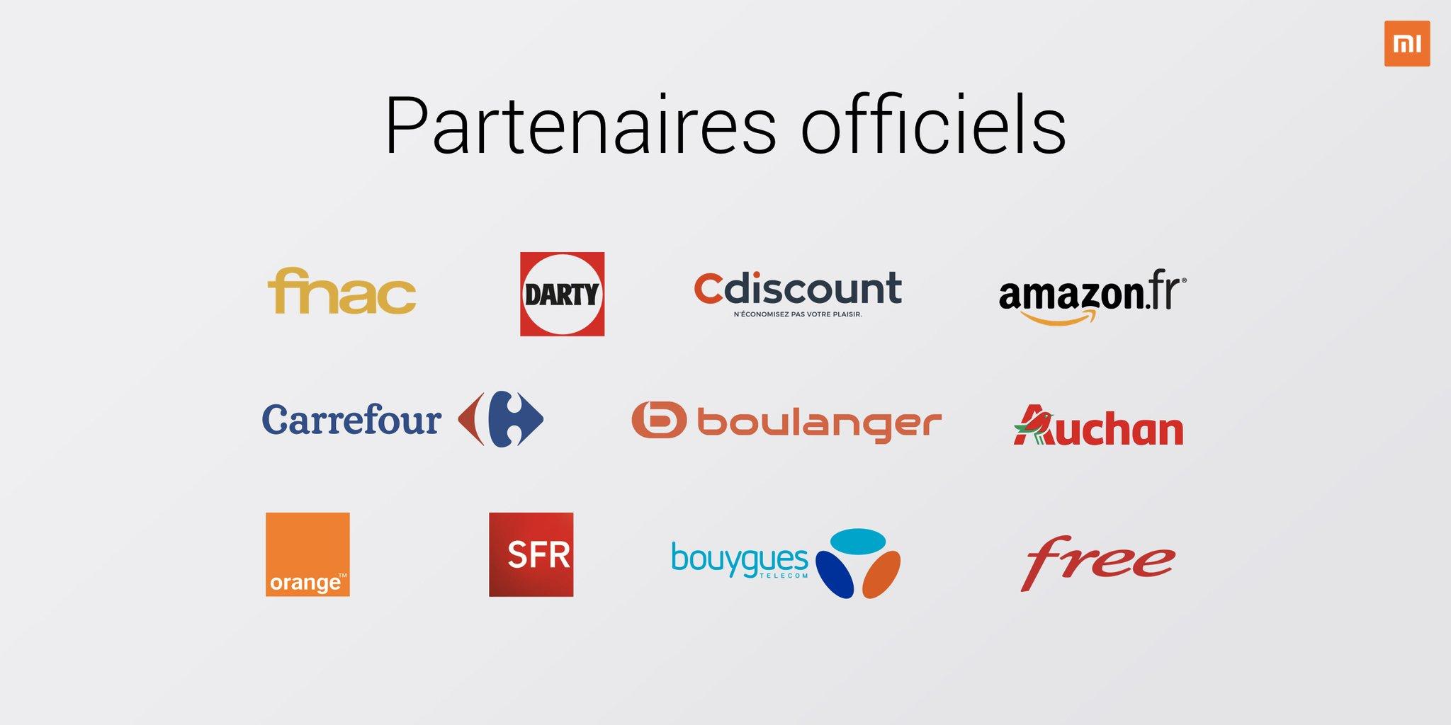 Xiaomi est enfin disponible officiellement sur Amazon, Fnac, Darty, Cdiscount, Carrefour, Boulanger, Auchan et Leclerc