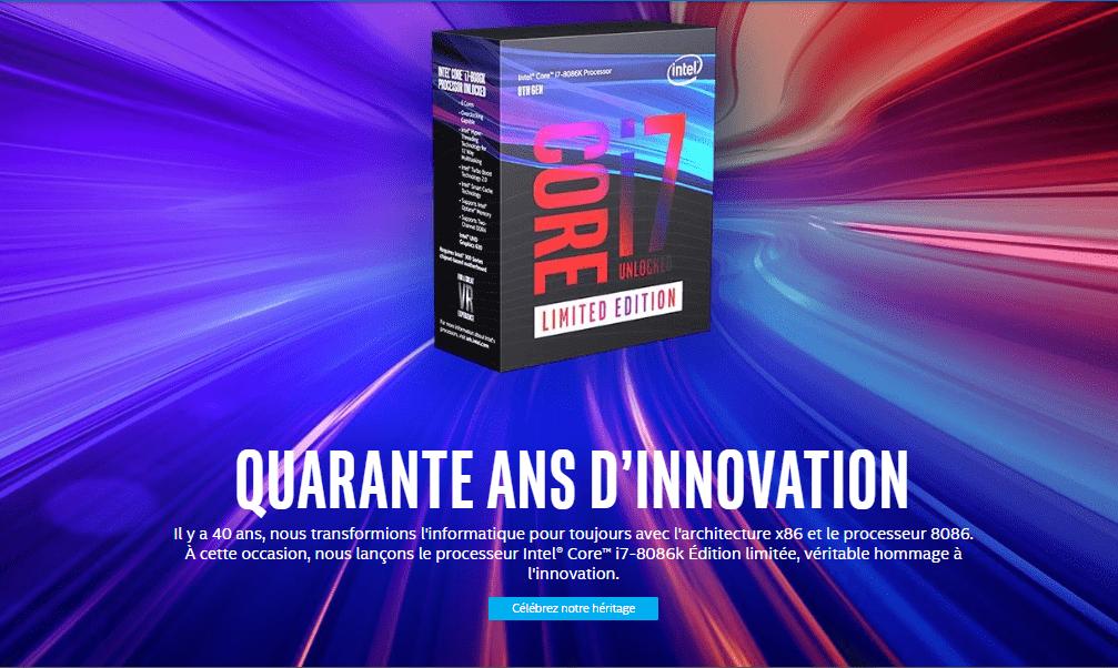 Pour fêter les 40 ans de ses processeurs iconiques, Intel lance un nouveau Core i7 survitaminé