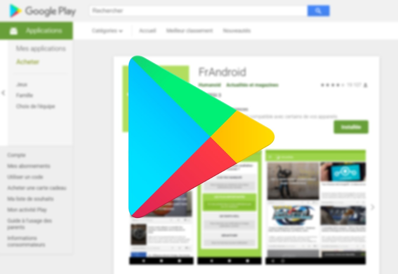 Play Store : Google teste une nouvelle interface de présentation des applications